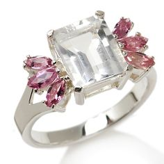 2.32ct Petalite and Pink Tourmaline Sterling Silver Ring at HSN.com.