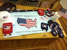 Patriotic, preppy & proud!  U S A!  Show your spirit!