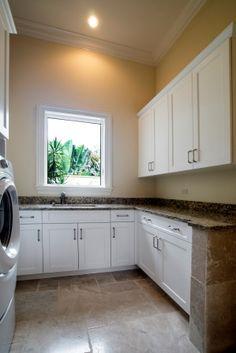 Laundry Room, Cortile Model Quail West, Naples, Florida. Custom  CabinetsNaples ...