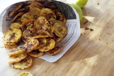 Sweet and Spicy Plantain Chips mmmm