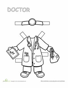 Worksheets: Doctor Paper Doll