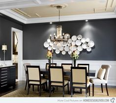 15 Dining Room Walls Decorated with Plates