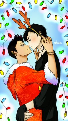 Merry Christmas ... From the hands off umkasandiary ... shadowhunters, alexander 'alec' lightwood, magnus bane, the mortal instruments, malec