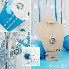 Winter Wonderland theme for a Jewelry Bar! Love it!  Http://layah.origamiowl.com