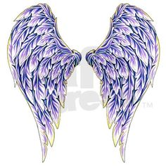 Dark Angel Wings Tattoo Designs | Purple Angel Wings Mugs by scorpionsamore
