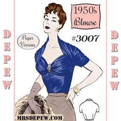Vintage couture modèle 1950 ' s Ladies' Français par Mrsdepew