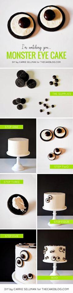 Pens to Pixels: DIY: Monster Eye Cake
