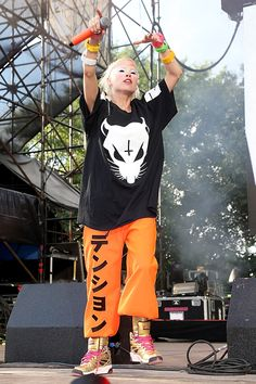 The 35 Most Iconic On-Stage Looks Of All Time #refinery29  http://www.refinery29.com/best-performance-outfits#slide27  Yolandi Visser Of Die Antwoord Anyone who can make sweats feel as subversive as bondage wear deserves snaps.  Yolandi also made us pause and consider the eyebrow-less look for a minute.