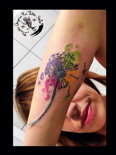 Dandelion flower by dimitris grapsias koi tattoo