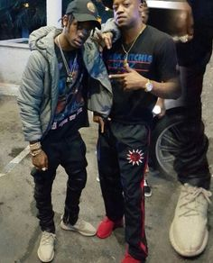 Travis Scott with Steve Francis