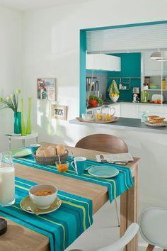 organisation idee deco cuisine blanche et bleu | Pinterest ...
