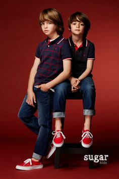 Leo & Dylan from Sugar Kids for Carolina Herrera Fall 2016
