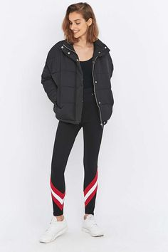 Light Before Dark Black and Red Chevron Ski Trousers - Urban Outfitters