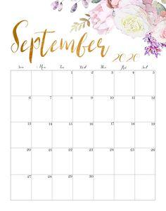 Excel Calendar, Cute Calendar, Monthly Calendar Template, Printable Calendar Template, Kids Calendar, Print Calendar, 2019 Calendar, Monthly Calendars, Calendar Design