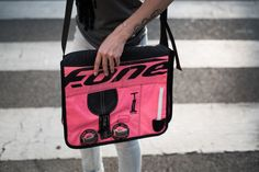 Pink hand made bag, made with recycled kitesurf material! Get it at www.sickdogsurf.com/shop