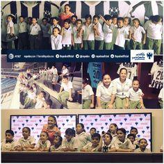 ¡Viven niños del Colegio Juan Pablo II una feliz #ExperienciaRayadaCocaCola en el Estadio BBVA Bancomer! #ESR