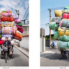 Uma série fotográfica que retrata o trabalho de entregadores em Xangai.