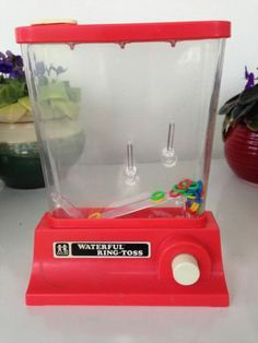 Vintage RARE Red Tomy Waterful Ring-toss 1976 Game water toy 1970's ringtoss