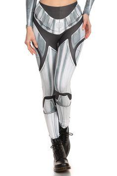 Robotic Leggings - Chrome - LIMITED | POPRAGEOUS