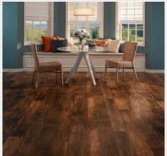 Love this laminate flooring for the kitchen and main living area!