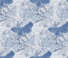 934 Best Blue and White Fabrics images | Blue, white ...