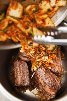 Recipe: korean beef short rib kimchi stew (jjigae) We got a proper snow last Thursday. Usually the first inch of snow marks the first snow of the season, Kimchi Stew Recipe, Jjigae Recipe, Korean Beef Short Ribs, Spare Ribs, Winter Recipes, Winter Food, Recipe Using, Lakes, Asian Recipes