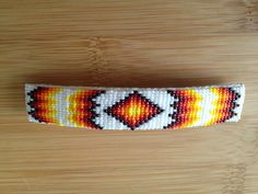 Native American beaded barrette by MoNavajoDesigns on Etsy