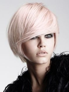 """Pastel Pink Blonde Hair Color Design 305x406 Pixel - this is so pale and faint I could probably get away with it in my office without buying a """"natural"""" color wig!"""