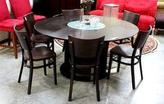 Espresso Finish Dining Table (11784-14) - Consignment Northwest