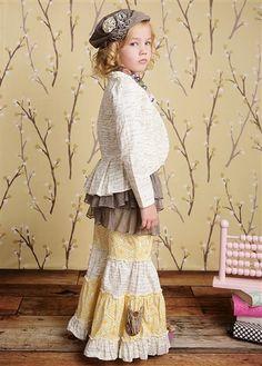Mustard Pie Clothing - Alice Jacket in Cream Script