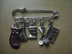 Love to COOK/ BAKE (chef theme) Kilt Pin Style Brooch
