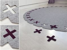 If you like it, please share! 5mm thick wool felt carpet / rug. 'Kisses' design by Evelien Lulofs