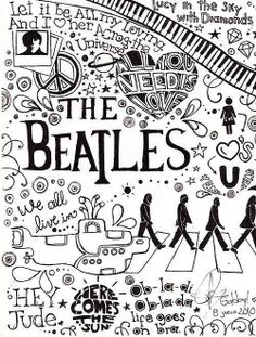 The Beatles. Draw. Conocé a Dejate Llevar en http://dejatellevar1.com.ar/