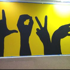 """""""LOVE"""" teaches kids diversity and gang signs Kids Church Decor, Kids Church Rooms, Sunday School Decorations, Church Nursery, Sunday School Rooms, Sunday School Classroom, School Murals, School Hallways, Youth Group Rooms"""