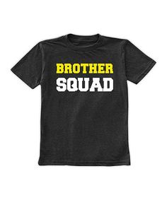 Look at this #zulilyfind! Charcoal & Yellow 'Brother Squad' Tee - Toddler & Boys #zulilyfinds