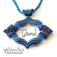 TUTORIAL Cellini Marquis Pendant Beaded with Peyote Stitch
