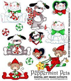 Peppermint Pets Cutouts