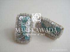 Boucles d'oreilles percées  http://www.marikawada.com/creation/ http://www.marikawada.com/online-shop/