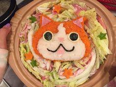 白菜のミルフィーユ・ジバニャン鍋~大根と人参おろしで