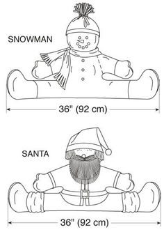 Kwik coser 3279 Snowman y Santa proyecto Stoppers por ucanmakethisKwik Sew Crafts Sewing Pattern 3279 - for Christmas (O/S) Thumbnail 2 Christmas Sewing, Felt Christmas, Christmas Projects, Christmas Ornaments, Sewing Crafts, Sewing Projects, Draft Stopper, Kwik Sew, Snowman Crafts