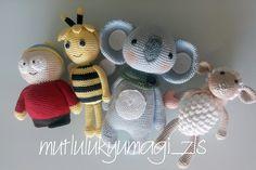 Eric cartman, Arı maya, koala, kuzu amigurumi.  instagram: @mutlulukyumagi_zls