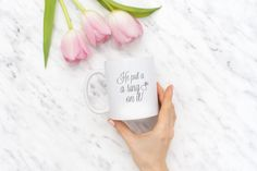 He put a ring on it mug  Engagement Coffee Mug  by loranolivia
