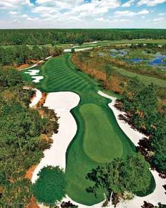 Championsgate- Orlando   They have 2 wonderful golf courses, the National and the International.    Pictured-National
