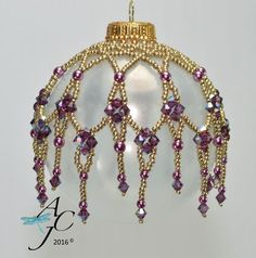 Easy beaded ornament dripping with by AndreaCatherineJewel on Etsy