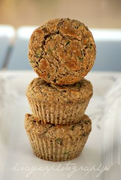Zucchini Banana Muffins Recipe...I've been dying for zucchini bread and banana bread lately...this meet both at once!!! Yum!