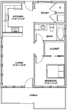 24x32 House -- #24X32H1 -- 768 sq ft - Excellent Floor Plans