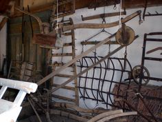 The upper floor of the museum crammed full of tools and other antique objects - all donated by locals from the village.