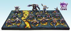 Chaos Dwarf blood bowl team