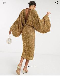 Order ASOS EDITION extreme sleeve sequin midi dress online today at ASOS for fast delivery, multiple payment options and hassle-free returns (Ts&Cs apply). Get the latest trends with ASOS. Sequin Midi Dress, Asos Dress, Ootd, Occasion Wear, The Dress, Bridal Collection, Latest Trends, Your Style, Fitness Models