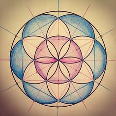 My Flower of Life with First Blue Ray and Seventh Ray Violet